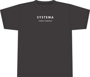 SYSTEMA-KNOW YOURSELF オーガニックコットンシャツ【black】