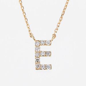 Initial K18YG Diamond【E】Pendant Necklace (ダイヤモンド イニシャル【E】ペンダントネックレス)