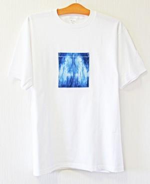藍染め半袖 XL 綿Tシャツ メンズ ユニセックス (AT-48)