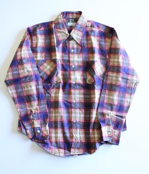 Dead stock Print check shirts
