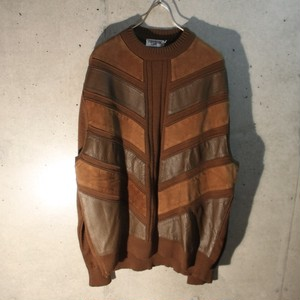 Leather Suede Design Knit