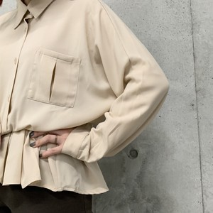 (LOOK) peplum l/s shirt