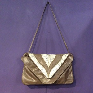 80's brown python design bag [B1382]