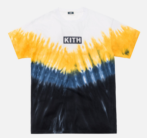KITH Summer Tie Dye Tee Blue / Yellow