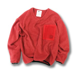 O- FLEECE V-NECK PULLOVER 【Apple】