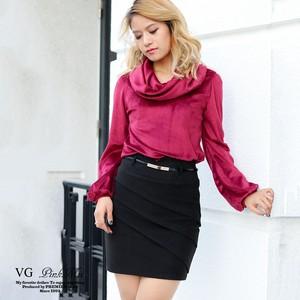 フロントタック入りタイトスカート※ベルト付き【PA9070S】
