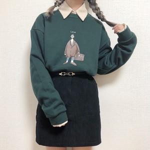 corduroy mini skirt[S1023-14]