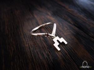 「Shirokigou Ring」 <k10> 城ガールおすすめ、城記号のリング
