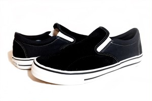 POSSESSED SHOE SKATE GANG SLIP ON BLACK