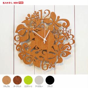 ハワイアン 掛け時計 アロハクロック(ALOHA・OHANA・MAHALO)