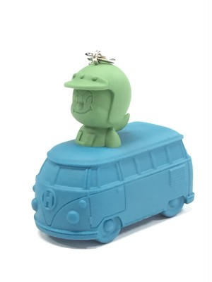 ワゴンバスメットくん 緑×青