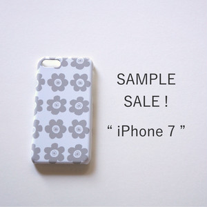 iPhone7*側表面印刷*ハード型*スマホケース「anemone ( grey )」【SAMPLE SALE !】