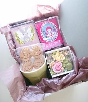 おうちカフェセット(エピスマグ/ホワイトピーチ/ガールズティー/クッキー/ミニアレンジ)