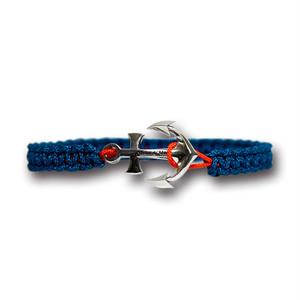【メール便送料無料/翌日発送】Anchor Bracelet Large Blue×Orange【品番 19S2004】