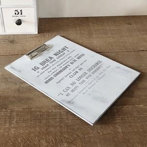 木製 クリップボード ホワイト