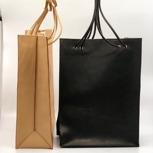 leather totebag/BLK,BEI/l.o.b【即納】
