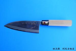 【受注生産品】出刃包丁(片刃・150mm・磨き・右利き)