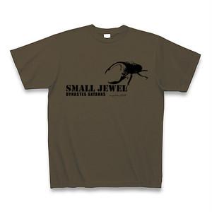 サタンオオカブト Tシャツ -maylime- オリジナルデザイン オリーブ