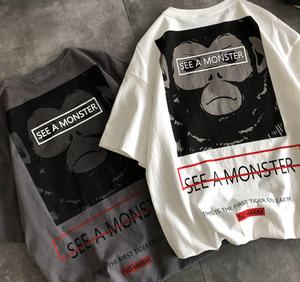 モンキープリントTシャツ