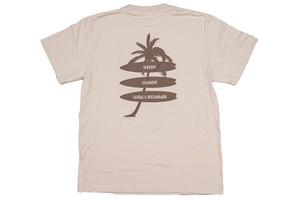 【palm tree T-shirt】/ sand beige