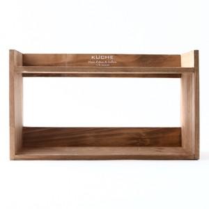 木製キャニスターラック