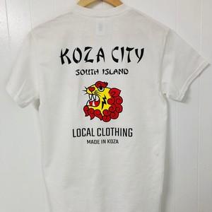 【KOZA CITY】スカ風プリントTシャツ / ホワイト