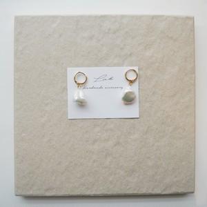 pearl simple pierced earrings ✦ バロックパール シンプルピアス