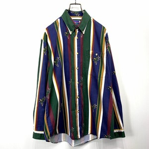 【USED】Striped long-sleeved shirt