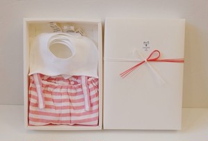 つけ襟風 シャツカラースタイ3枚組&サロペット ギフトセット(¥10000-)