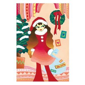 ポストカード『クリスマスガール』