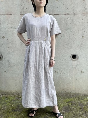 Vintage Flax Linen Dress Made In Lithuania