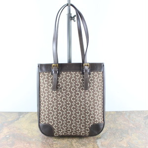 .OLD CELINE MACADAM PATTERNED LEATHER TOTE BAG MADE IN ITALY/オールドセリーヌマカダム柄レザートートバッグ2000000048451