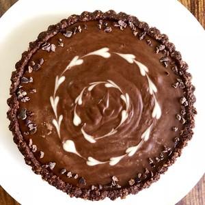 Valentine's Raw Chocolate Tart