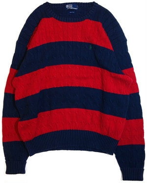 【L】 90s Polo Ralph Lauren ボーダーセーター