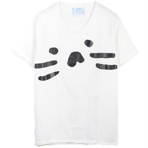 もずにゃん でかプリント Tシャツ【ホワイト】