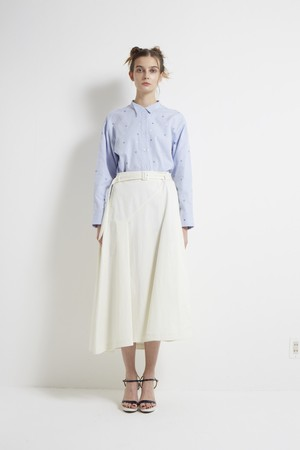 【MONO×MIDDLA】 LADY'S MONO EMBROIDERY WING COLLAR SHIRT