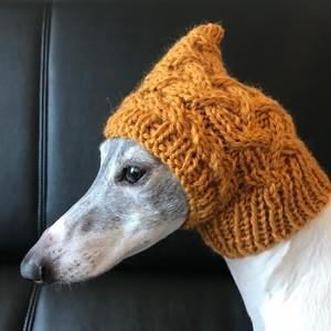 編み込みピチョン帽 キャメルイエロー