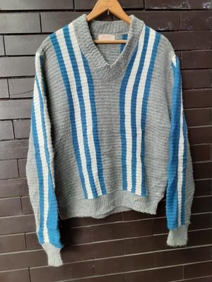 Stripe Patterned Sweater Knit ストライプ セーター ニット