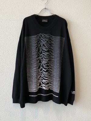"【19043】WIDE SILHOUETTE L/S Tee ""DOT GRADATION"" (BLACK)"