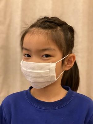 子供用布マスク 夏マスク 蒸れない 涼しいリネンマスク『近江の麻100%の贅沢なオーガニックマスク』安心の国内産 リネン プリーツ   白 マスク