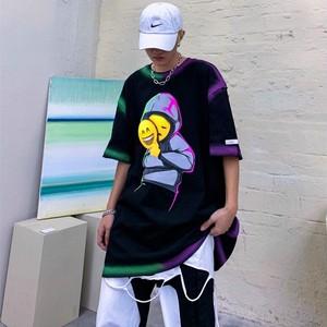 【トップス】ストリート系半袖英字プリント図柄隠喩男女兼用ファッションTシャツ49476287