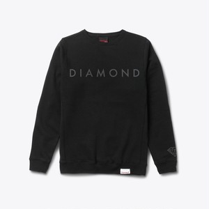 Diamond Supply Co. - FACET TONAL Crewneck BLACK