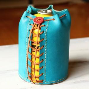 ODガス缶500G レザーカバー ブルー