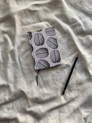 世界のプリントペーパーを使ったノート 脳02
