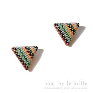 手織り三河木綿ピアスA /pom by Je brille/伝統と現代が織り成す三河木綿アクセサリー
