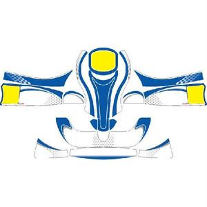 レーシングカート用 カウルステッカー フリーライン用 Yb-Bu 特注品
