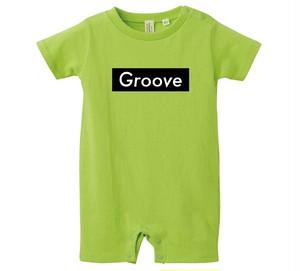 Grooveロンパース(LIME GREEN) Black Box Logo