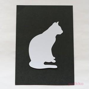 カット済みプラバン(レジン用プレート) 猫