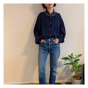 【UNISEX】Vintage navy menslike shirt
