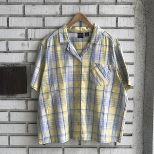 USED COTTON CHECK S/S SHIRTS